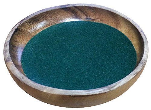 木製ダイストレイ 直径15㎝ 高さ3㎝ 深さ約2㎝