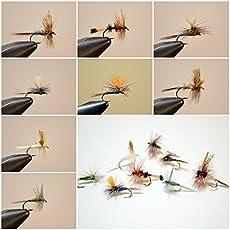 [入門用フライベストセレクション]完成フライ アソート ドライ 8パターン #12-#14 イワナ、ヤマメ 管釣りにも