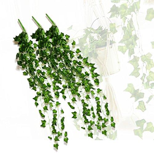 MINERVA【 観葉植物 アイビー 3本 】 フェイクグリーン 1m【 吊り下げ プラントハンガー 製作キット付き & DIY 特集 セット 】 人工 / 葉 / 造花 / 壁掛け 1本 (3本)