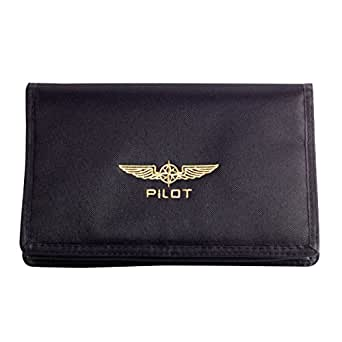 (デザイン4パイロッツ)DESIGN 4 PILOTS フライトバッグ DOCU BAG SMALL パスポートケース iPadケース ブラック 飛行機 パイロットグッズ BLACK (並行輸入品)