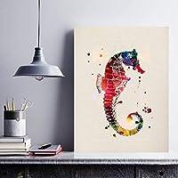 タツノオトシゴの動物の創造的な贈り物をフレーミングするためのナクニック柄。動物の画像でフレーム化する薄層。特別な友人に与えるもの。 250グラムの紙
