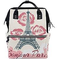 ママバッグ マザーズバッグ リュックサック ハンドバッグ 旅行用 フランスの春と夏 プリント ファション