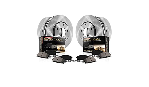 Power Stop KOE8198 Autospecialty Replacement Front and Rear Kit Rotors and Ceramic Brake Pads