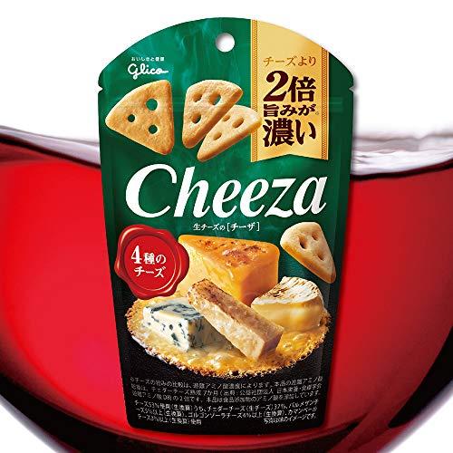 江崎グリコ 生チーズのチーザ 4種のチーズ 40g×10個 おつまみチーズ ワインに合う スナック菓子