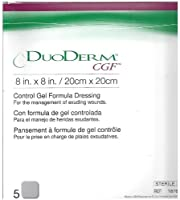 Duoderm CGF Sterile Wound Dressing 8 x 8 - Box of 5 Dressings by ConvaTec