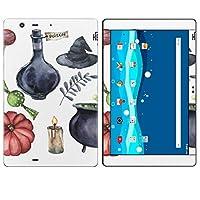 igsticker Qua tab PZ LGT32 全面スキンシール タブレット tablet LGエレクトロニクス シール ステッカー ケース 保護シール 背面 015872 ハロウィン 魔女 halloween