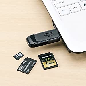 サンワダイレクト カードリーダー microSD SDHC SDXC メモリースティックPRO PS3対応 ブラック 400-ADR105