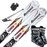 スキー5点セット ROSSIGNOL 12-13 PURSUIT RTL 149cm ブーツ27cm ストック125cm メンズグローブ ワクシング施工