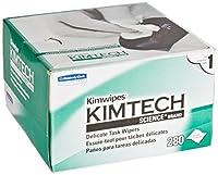 """キンバリーKIMTECH科学Kimwipes繊細なタスク使い捨てワイパー、8–25/ 64""""長X 4–25/ 64""""幅、ホワイト 12 boxes of 280 sheets KC34155 12"""