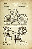 自転車元特許ポスター(特許# 425,390、4月8日付、1890。チャールズ・。D Rice ) Engineer Art by Buttered Kat Medium (19 x 13 Inches)
