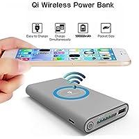 5000 mAhパワーバンクQiワイヤレス充電USBポータブルバッテリー充電器
