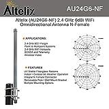 Altelix ワイヤレス オムニアンテナ AU24G6-NF 2.4 GHz 6dBi 全方向性 N-Female