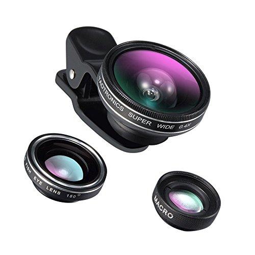 TaoTronics カメラレンズキット クリップ式 スマホレンズ 3点セット(魚眼、マクロ、0.4倍広角レンズ) スマートフォン タブレットPC用 TT-SH014