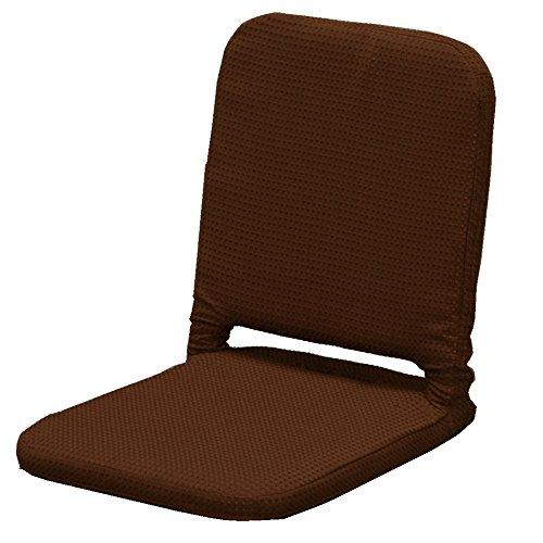 アイリスオーヤマ 座椅子 コンパクト ワッフル生地 ブラウン ZC-7