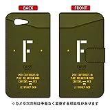 [Xperia Z3 Compact SO-02G/docomo専用] Coverfull スマートフォンケース 手帳型スマートフォンケース Cf LTD ミリタリー イニシャル アルファベット F (カーキ) DSO02G-IJTC-401-MD15