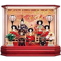 雛人形 コンパクト 吉徳大光 ひな人形 雛 ケース飾り 五人飾り 御雛 三五親王 芥子官女 六角アクリルケース h303-ys-322515