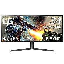 LG ゲーミングモニター ディスプレイ 34GK950G-B 34インチ/3440×1440ウルトラワイド/Nano IPS/G-Sync対応/DisplayPort・HDMI/高さ調節、ピボット対応