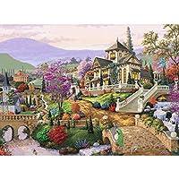 Jagetrade美しい家diy 5dフルドリルダイヤモンド絵画刺繍クロスステッチキットラインストーンモザイク家の装飾クラフト