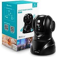 【新バージョン】HeimVision ネットワークカメラ1536P 300万画素Alexa対応 防犯 Wi-Fiカメラ動体検知自動追跡 暗視機能 警報通知 双方向音声 録画可能 安全対策 ペット/子供/老人見守り WIFI/LAN-ケーブ対応 技適認証済み 日本仕様