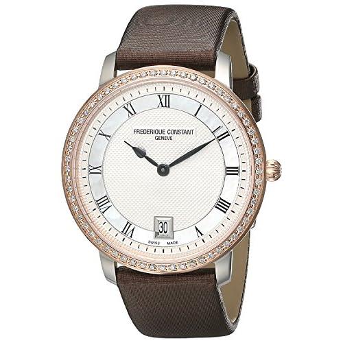 [フレデリックコンスタント]Frederique Constant 腕時計 Slim Line Stainless Steel Watch with Brown Satin FC220M4SD32 レディース [並行輸入品]