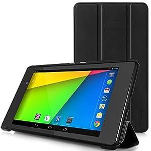 MoKo Ultra Slim Lightweight Smart-shell Stand Case for Google Nexus 7 FHD 2nd Gen (BLACK)