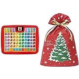 アンパンマン カラーキッズタブレット + インディゴ クリスマス ラッピング袋 グリーティングバッグ3L クリスマスツリー レッド XG983