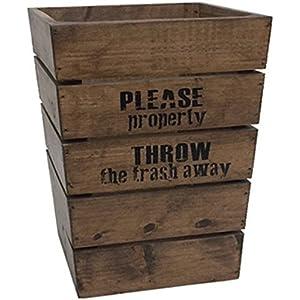 クレエ 西海岸風 ゴミ箱 オールドパインダストボックス 91500062