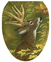 Toilet Tattoos, Toilet Seat Cover Decal, Lucky Find Deer, Size Elongated [並行輸入品]