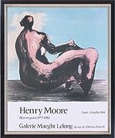 ポスター ヘンリー ムーア Seated Woman 1984 額装品 マッキアフレーム-S(ブラックシルバー)