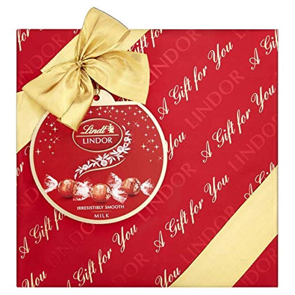 人形ゴミスタッフLindt Lindor Gift Wrapped Milk Chocolate Truffles Box 287g