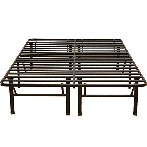 ベッドフレーム 折りたたみ パイプベッド EN050 ブラック セミダブル(幅120cm)