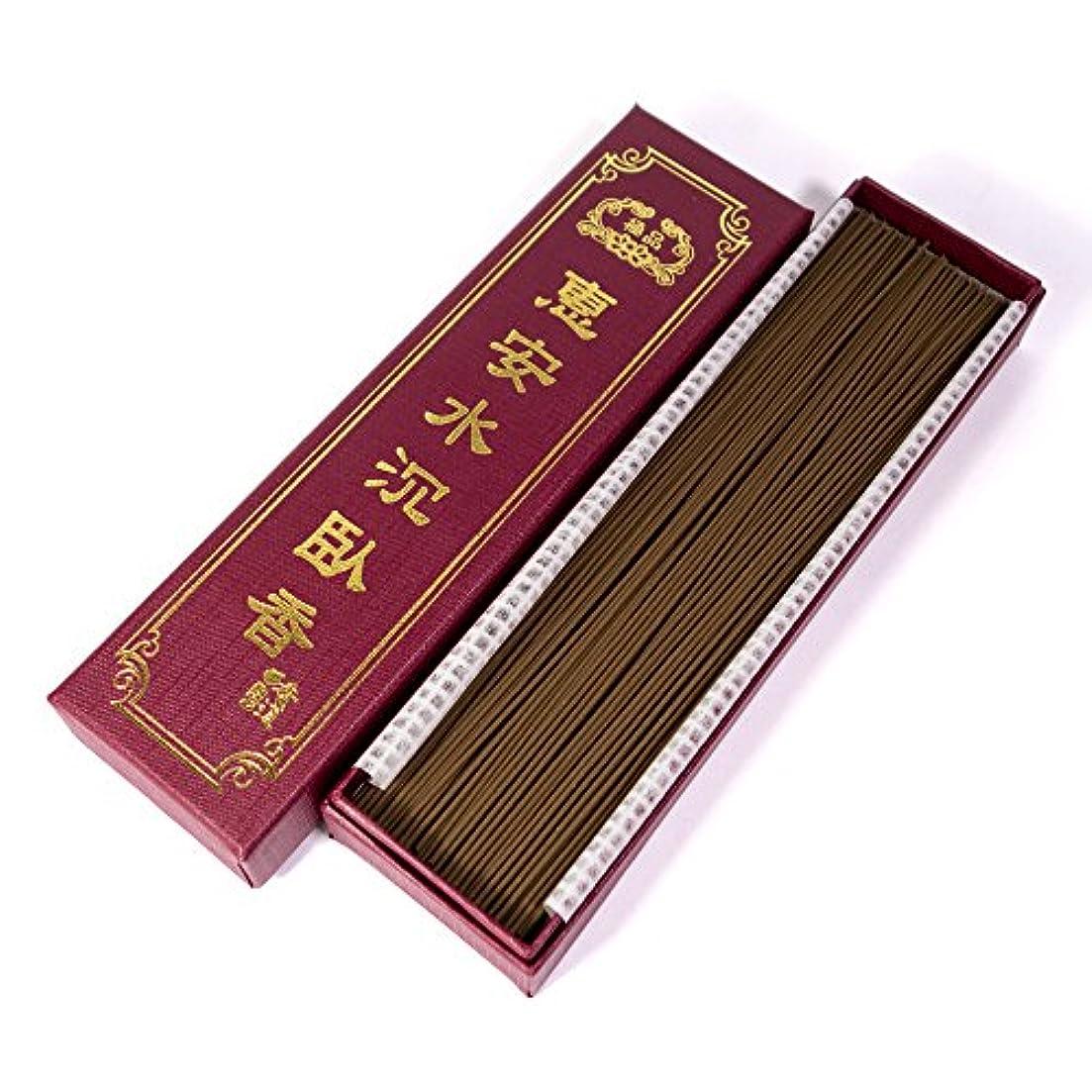 唯一明確にバリア台湾沉香舍 お香 香木 線香 水沈香 惠安水沈香 煙少香 21cm 75g 約220本