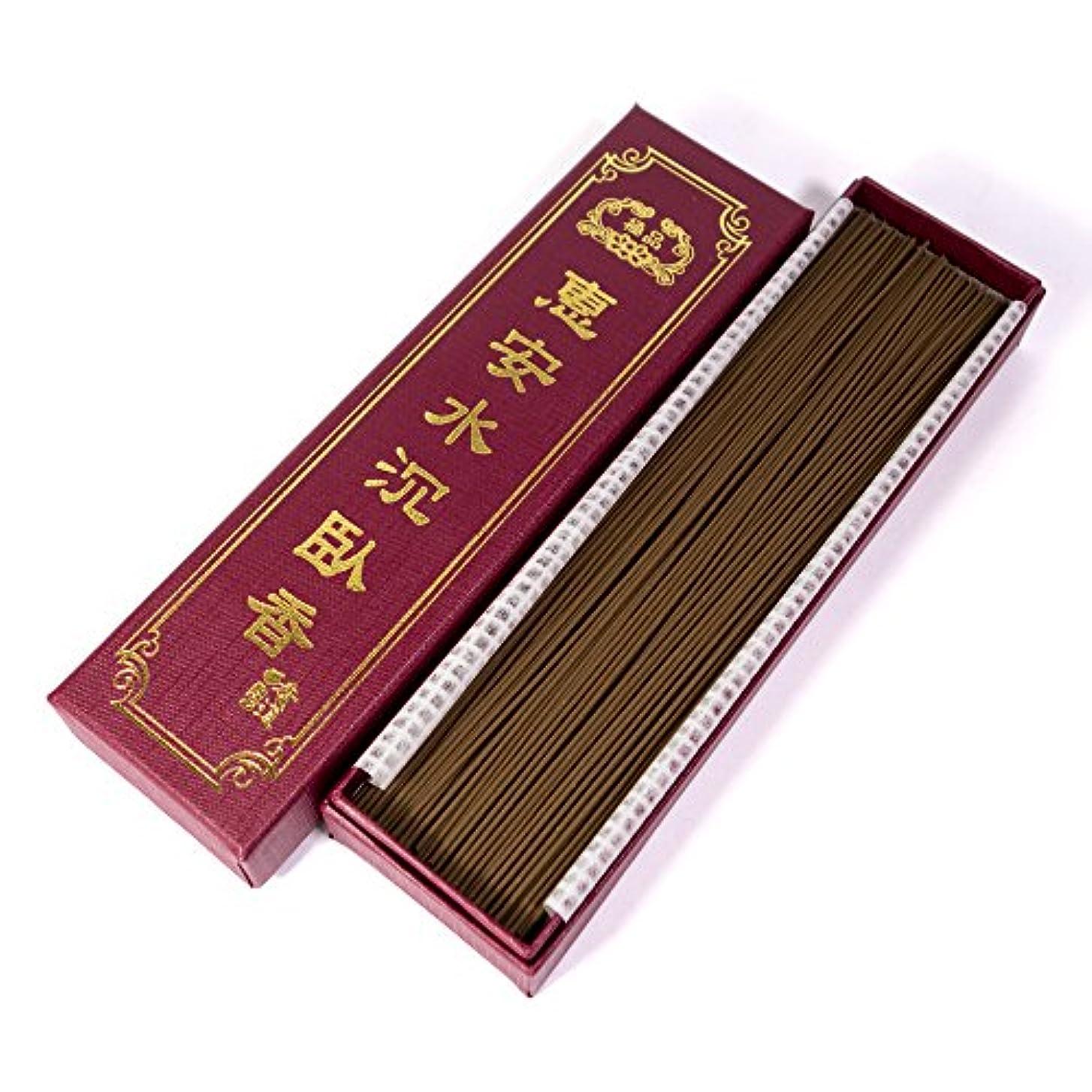 くしゃくしゃジョージハンブリー暖炉台湾沉香舍 お香 香木 線香 水沈香 惠安水沈香 煙少香 21cm 75g 約220本