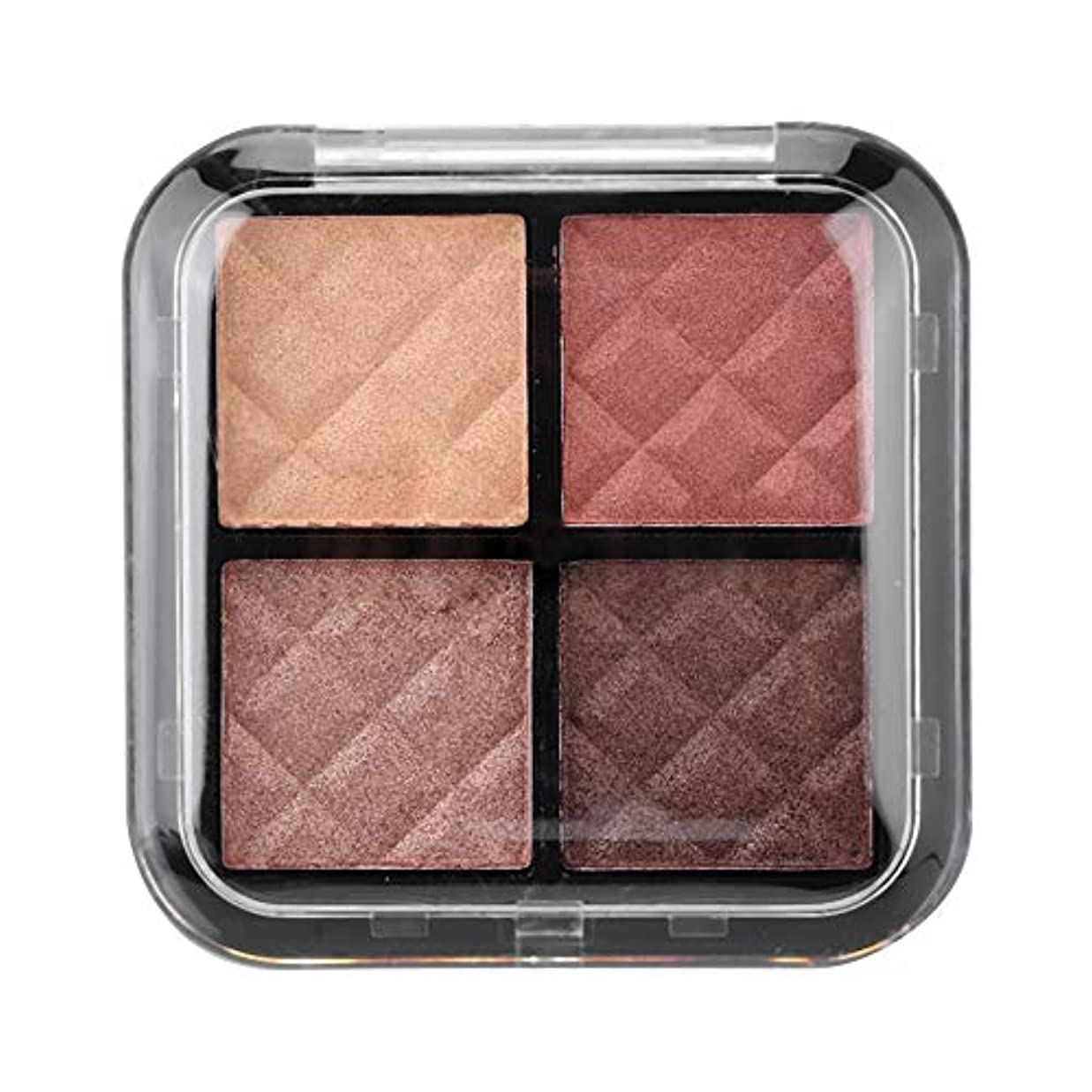 ブラザーインフルエンザボーダーアイシャドウパレット 4色 化粧マット 化粧品ツール グロス アイシャドウパウダー(01)
