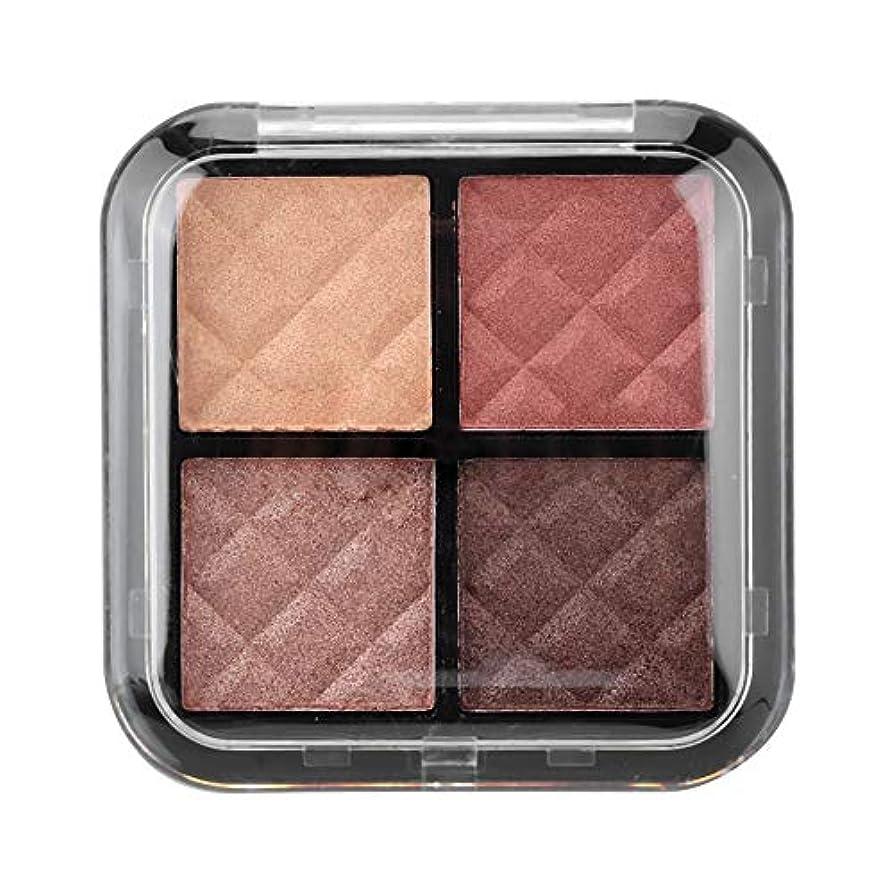 離れたマエストロエアコンアイシャドウパレット 4色 化粧マット 化粧品ツール グロス アイシャドウパウダー(01)