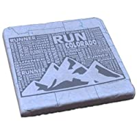 Gone for a run Stone Coaster Colorado Stateランナー
