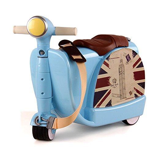 (ミヤレ)miyare 多機能 キッズ 通学 キャリーケース スーツケース キャリー バッグ 超軽量 旅行かばん アウトドア 遠足 旅行 乗用玩具 おしゃれ 収納バッグ (ブルー)