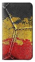 JPW3312S9P ベルギーの旗ビンテージフットボールのグラフィック Belgium Flag Vintage Football Graphic Samsung Galaxy S9 Plus フリップケース
