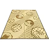 Arie(アーリエ) い草ラグ カーペット ブラウン 176×230cm 約3畳 和ねこ