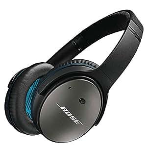 Bose QuietComfort 25 ノイズキャンセリングヘッドホン 密閉型/オーバーイヤー/スマートフォン対応リモコン・マイク付き ブラック QuietComfort25 SM BK【国内正規品】