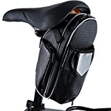 Smiletop 自転車 サドルバッグ フロントバッグ 自転車 トップチューブバッグ フレームバッグ 防水 装着便利 フロント サイクルバッグ 大容量 多機能 (ブラック)