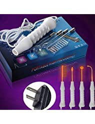 [intercorey] Straight hair comb, negative ion comb Portable High Frequency D'arsonval Skin Tightening Acne Spot...