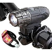 300ルーメン超明るい自転車ヘッドライト、充電式および防水自転車ライト