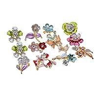 Prettyia アクセサリー ジュエリー 合金 ブローチ ブローチ 全4種類 約12個入り 装飾 - 種類4