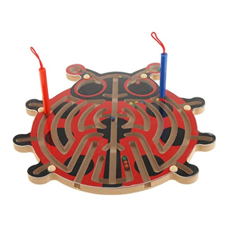 SONONIA 木製 磁気ペン 迷路パズル ベビー 幼児 就学前 子供用 教育玩具 5色 - #3