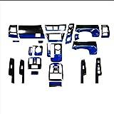 プリウスα ZVW40 系 3D インテリアパネル パネル 23P ブルーグラデーション 黒 青グラデ トヨタ FJ2535
