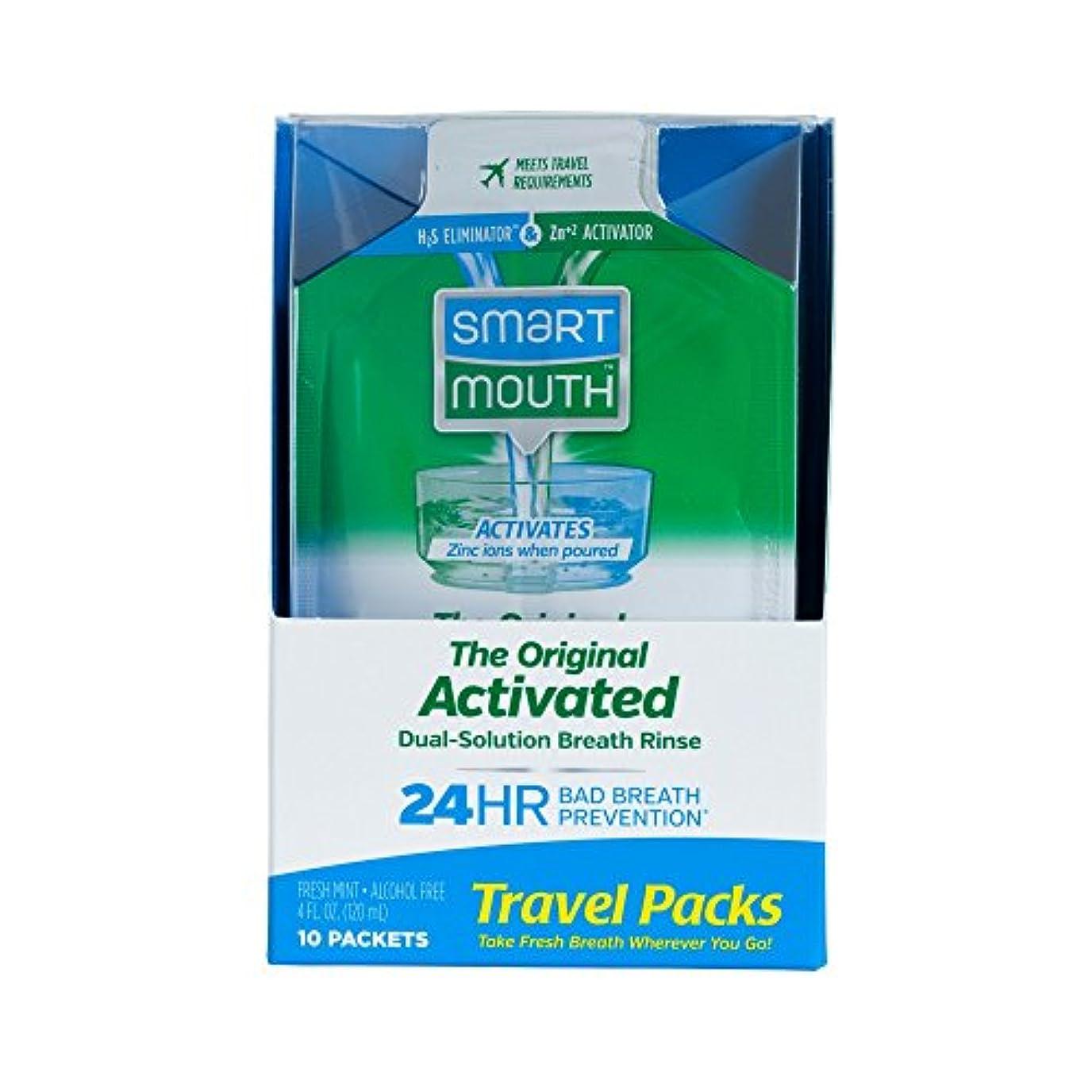 脚コンパニオン甘いSmartMouth Mouthwash Packets, Clean Mint, 10 Count by SmartMouth