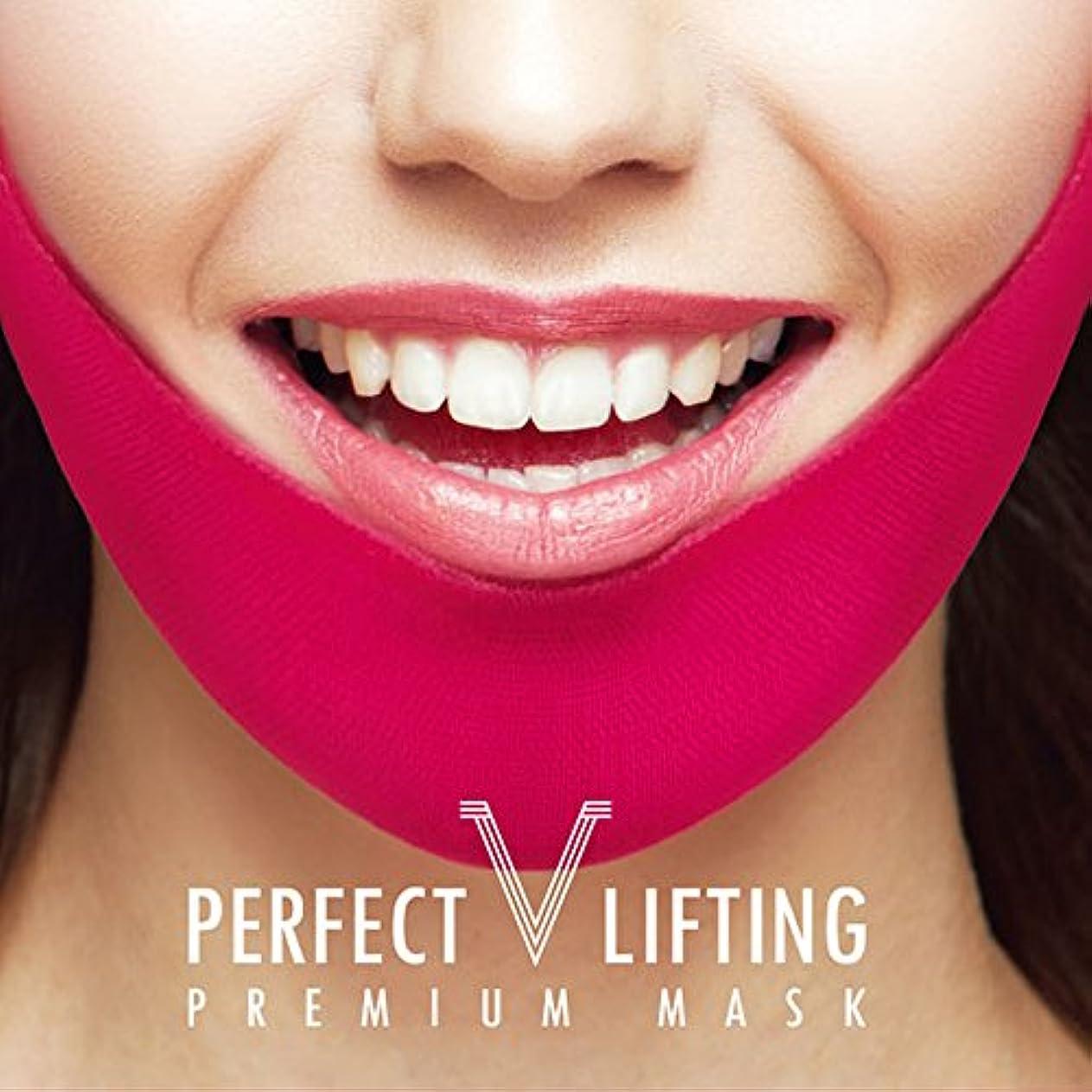 保護努力代理人Avajar パーフェクト V リフティング プレミアムマスク エイバザール マスク フェイスマスク 小顔効果と顎ラインを取り戻す 1パック