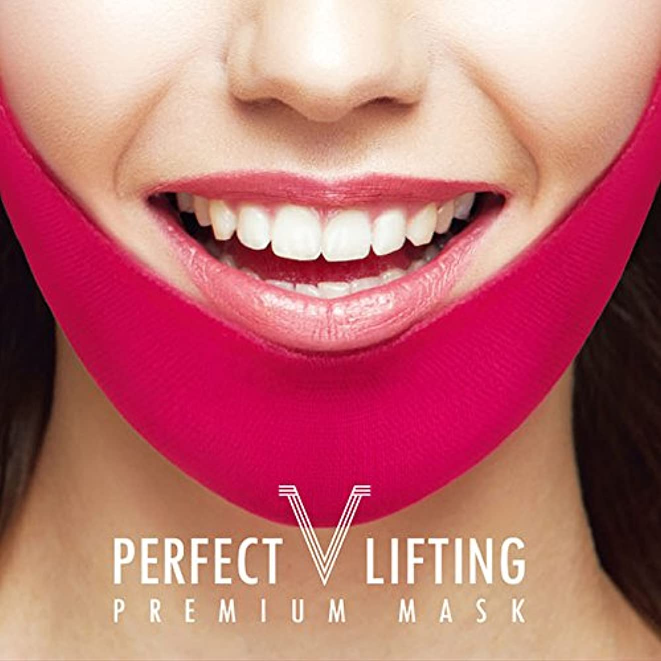 話をするライン推定Avajar パーフェクト V リフティング プレミアムマスク エイバザール マスク フェイスマスク 小顔効果と顎ラインを取り戻す 1パック