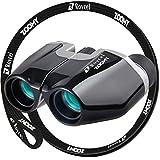 Roycel 双眼鏡 コンサート専用 おすすめ 10倍 ネックストラップ(黒) 付属 10×22 説明書 メーカー1年保証書 ZOOMY (本体:黒 ストラップ:黒)